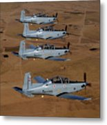 A Formation Of Iraqi Air Force T-6 Metal Print by Stocktrek Images