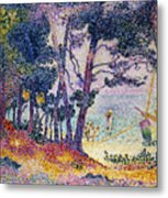 A Pine Grove Metal Print by Henri-Edmond Cross