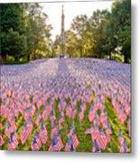 American Flags Metal Print by Susan Cole Kelly