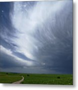 An Afternoon Thunderstorm Coming Metal Print by Jim Richardson