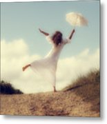 Angel With Parasol Metal Print by Joana Kruse