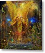 Archangel Michael-angel Tarot Card Metal Print by Steve Roberts