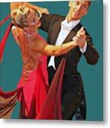 Ballroom Dancers Metal Print by Larry Linton