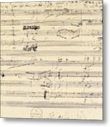 Beethoven Manuscript, 1826 Metal Print by Granger