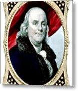 Ben Franklin Metal Print by War Is Hell Store