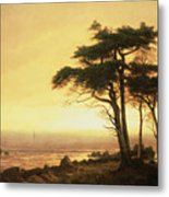 California Coast Metal Print by Albert Bierstadt