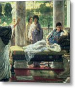 Catullus Reading His Poems Metal Print by Sir Lawrence Alma-Tadema