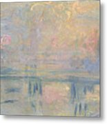 Charing Cross Bridge Metal Print by Claude Monet