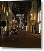 Christmas Eve 2009 On Maiden Lane In San Francisco Metal Print by Wingsdomain Art and Photography