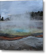 Chromatic Pool Yellowstone Metal Print by Pierre Leclerc Photography