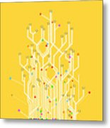 Circuit Board Graphic Metal Print by Setsiri Silapasuwanchai