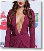 Demi Lovato Wearing A Roland Mouret Metal Print by Everett