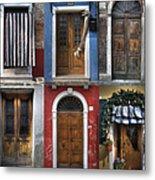 doors and windows of Burano - Venice Metal Print by Joana Kruse