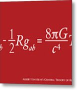 Einstein Theory Of Relativity Metal Print by Michael Tompsett