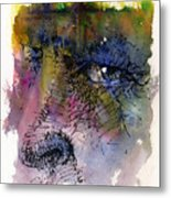 Face With Tree Metal Print by John D Benson