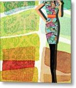 Fashion Illustration Metal Print by Ramneek Narang
