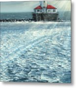 Harbor Light Metal Print by Doug Kreuger