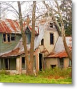 Haunted House Metal Print by Marty Koch