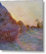 Haystacks Metal Print by Claude Monet
