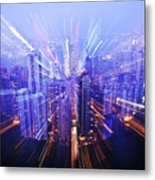 Hong Kong Lights Metal Print by Ray Laskowitz - Printscapes