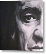 Johnny Cash 2 Metal Print by Eric Dee