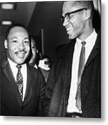 King And Malcolm X, 1964 Metal Print by Granger