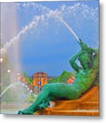 Logan Circle Fountain 1 Metal Print by Bill Cannon