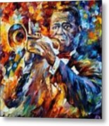 Louis Armstrong Metal Print by Leonid Afremov