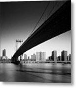 Manhattan Bridge Metal Print by Nina Papiorek