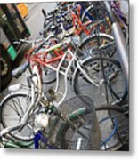 Many Bikes Metal Print by Marilyn Hunt