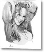 Mariah Carey Metal Print by Murphy Elliott