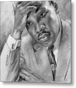 Martin Luther King Jr Metal Print by Ylli Haruni