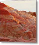 Petrified Fire Metal Print by Christine Till