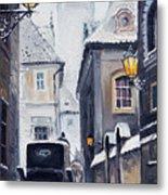 Prague Old Street 02 Metal Print by Yuriy  Shevchuk