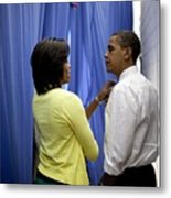 President Barack Obama And First Lady Metal Print by Everett