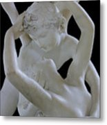 Psyche Revived By The Kiss Of Cupid Metal Print by Antonio Canova