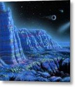 Pulsar Planets II Metal Print by Lynette Cook