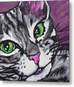 Purple Tabby Metal Print by Sarah Crumpler