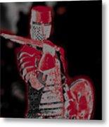 Red Knight Metal Print by Lillian Michi Adams