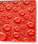 Red Water Drops Metal Print by Blink Images