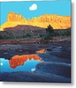 Reflective Intentions Metal Print by John Foote