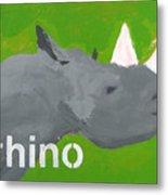 Rhinoceros Metal Print by Laurie Breen