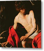 Saint John The Baptist Metal Print by Michelangelo Caravaggio