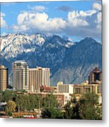 Salt Lake City Utah Skyline Metal Print by Utah Images