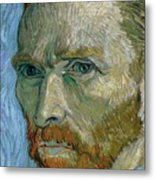 Self-portrait Metal Print by Vincent Van Gogh
