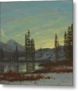 Snow In The Rockies Metal Print by Albert Bierstadt