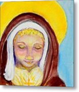 St. Clare Of Assisi Metal Print by Susan  Clark