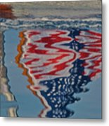 Stars And Stripes On The Water Metal Print by Steven Lapkin