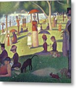 Sunday Afternoon On The Island Of La Grande Jatte Metal Print by Georges Pierre Seurat
