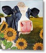 Sunflower Sally Metal Print by Laura Carey